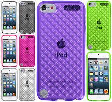 For iPod Touch 5th 6th Gen TPU CANDY Diamond Gel Flexi Skin Case +Screen Guard