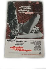 Edgar Allan Poe's MURDERS IN THE RUE MORGUE 1971 pressbook/Jason Robards