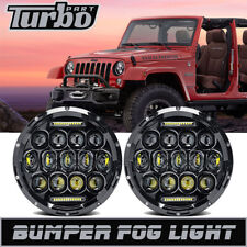 "DOT 7"" Inch 75W Cree LED Headlights Hi/Lo Beam DRL for 97-18 Jeep Wrangler JK TJ"