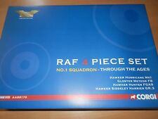 CORGI AVIATION 1:72 RAF NO 1 SQN 4 PIECE SET HURRICANE, METEOR, HUNTER, HARRIER
