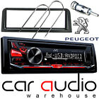 Peugeot 106 JVC CD MP3 USB AUX RED Display Car Stereo Radio Player & Fitting Kit
