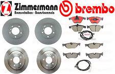 Complete Brake Kit Zimmermann Brembo BMW 328i XDrive 2011 Rotors Pads Sensors