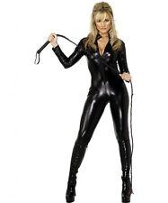 Wetlook Catsuit Long Sleeve Fetish Dominatrix Faux Latex Clubwear Sexy Black