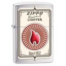Zippo Trading Cards Brushed Chrome Lighter - Brand new!