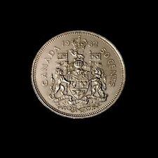 1982 - Canadian Nickel Half Dollar 50 Cent Coin - Canada