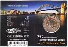 2007 Sydney Harbour Bridge 75th Years $1 Coin - Berlin World Money Fair