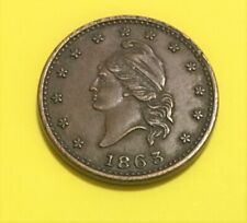 1863 Civil War Token Army & Navy, Super Nice Condition