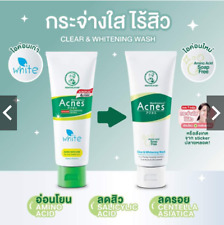 New Mentholatum acnes anti-bacterial clear & whitening face wash skin care