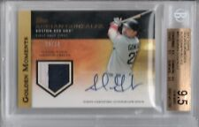 BGS 9.5 2012 Topps Golden Moments 10 AUTO/PATCH Adrian Gonzalez #d 1/10 METS