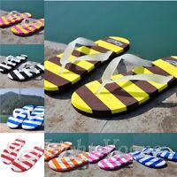 Women Stripe Shower Shoes Sandals Beach Thong Slippers Flip flops Havaianas Flat