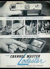 Channel Master Lodestar Camera Shaped Tape Recorder Vintage Orig Dealer Brochure