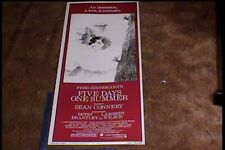 FIVE DAYS ONE SUMMER 1982 INSERT 14X36 MOVIE POSTER SEAN CONNERY