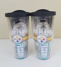 Tervis Pittsburgh Steelers Tumblers - Set of 2 - 24 oz with lids