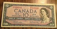 1954 CANADA 10 DOLLAR BANK NOTE - I/V - Beattie / Rasminsky
