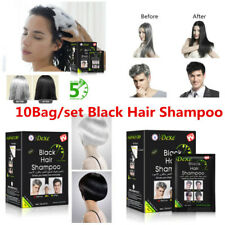 10Pcs/Box Dexe Black Hair Shampoo For Men & Women Just 5 Minutes Easy to Use SUN