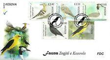 Kosovo Stamps 2018. Fauna: Birds. Falco, Upupa, Sturnus, Oriolus. FDC Set MNH