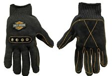 Harley Davidson Motorcycle Leather Palm Made With KEVLAR Knit Riding Gloves