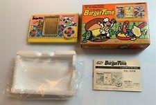 BURGER TIME Rare Vintage Electronic LCD Handheld Video Game by BANDAI NEW CIB!