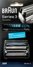 Braun 32S Series 3 Electric Shaver Replacement Foil & Cassette Cartridge, Silver