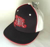 MISSIONSIX M6 Black White Wool Flexfit Hat Ball Cap Mens Size OSFA NEW NWT