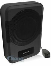 """ALPINE 120W Compact Powered 8"""" Car Subwoofer for Under or Behind Seat 