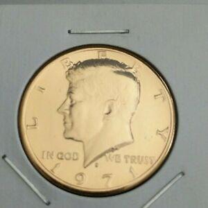 Gold plated JFK Kennedy Half Dollar 50 cent piece RANDOM YEAR and MINT
