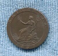 1797 RESTRIKE GEORGE III CARTWHEEL PENNY AUSTRALIAN PROCLAMATION COIN  L-293