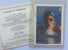 Janet Evans Hand Signed Trading Card USA Olympic Gold Medal Winner Swimming