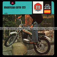 #027.22 MONTESA COTA 123 Fiche Moto Motorcycle Card