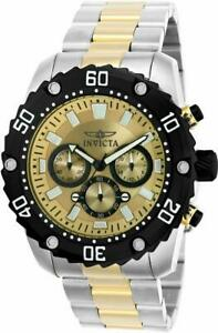 Invicta Pro Diver 22519 Men's Round Analog Chronograph Champagne Watch