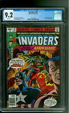 Invaders 40 CGC 9.2 NM- Captain America Union Jack Namor Baron Blood Marvel 1978