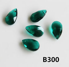 10pcs 10x18mm Teardrop Glass Crystal Loose Spacer Beads B300