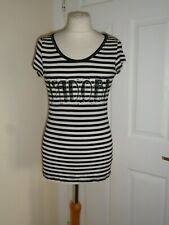 Jane Norman J'Adore Beaded Striped Top Size UK 12 RRP £42