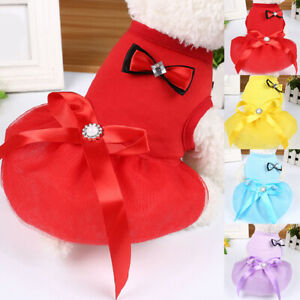 For Chihuahua Pet Lace Dress Dog Princess Vest Skirt Puppy Cloth Puppy Accessory
