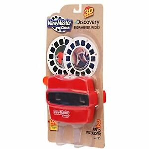 View Master Classic 3D Adventures Viewer w/ 2 Reels Discovery Endangered Species