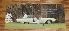 Original 1963 Ford Thunderbird Owners Operators Manual 63 T-Bird