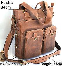 Quality Full Grain Cow Hide Hunter Leather Shoulder Bag. Adjustable Strap. 1762.