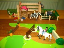 3 Schleich Horses Pony Jumps Stable Rider NEW Horse Papo Rider Bundle Blanket