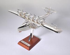 ATLAS EDITIONS 1/200 Dornier Do X 1929 Chrome/Silver Finish w/Stand 7504002