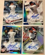 2017 Topps & Bowman TYLER AUSTIN Rookie Autograph Baseball Card Lot 4 NY Yankees