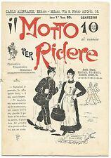 SATIRA-UMORISMO_Il Motto per Ridere_Ed. Aliprandi_Anno V  N.53, 1893*_FORNARI