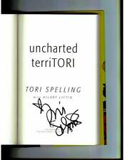 Beverly Hills 90210 Tori Spelling signed Uncharted Territori 1st print HC book
