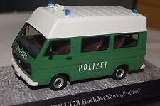 Vw lt28 bus police avec HOCHDACH vert-blanc 1:43 premiumclassixxs NOUVEAU & OVP 13352
