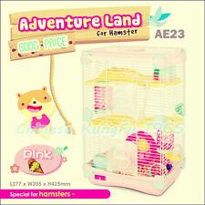 Alice Adventure Land Hamster Gerbil Pet Cage Playhouse 3 level Wheel Tunnel Rope
