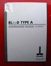 Okuma Ml Ii-D Type A Maintenance Manual: 3710-E (Inv.12189)