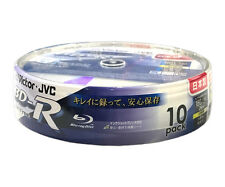 10 JVC Blu Ray Discs 25GB BD-R LTH 6x Speed Printable Bluray Disk Factory Sealed
