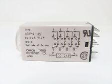 Omron H3Y-4-US-10S-DC24 4PDT 24VDC 10 Second Timer, NOS in Box