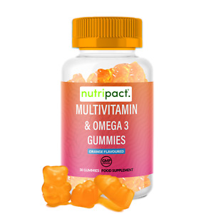 Multivitamin Gummies for Kids Vitamin D3, Vitamin C & Omega 3  + Immune Support