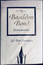 Basildon Bond Envelopes No 2 Blue - Watermarked - Pack of 20 envelopes 95x143mm