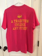 NEW Masters Pink T-Shirt A Tradition Unlike Any Other Golf Medium 47 Brand